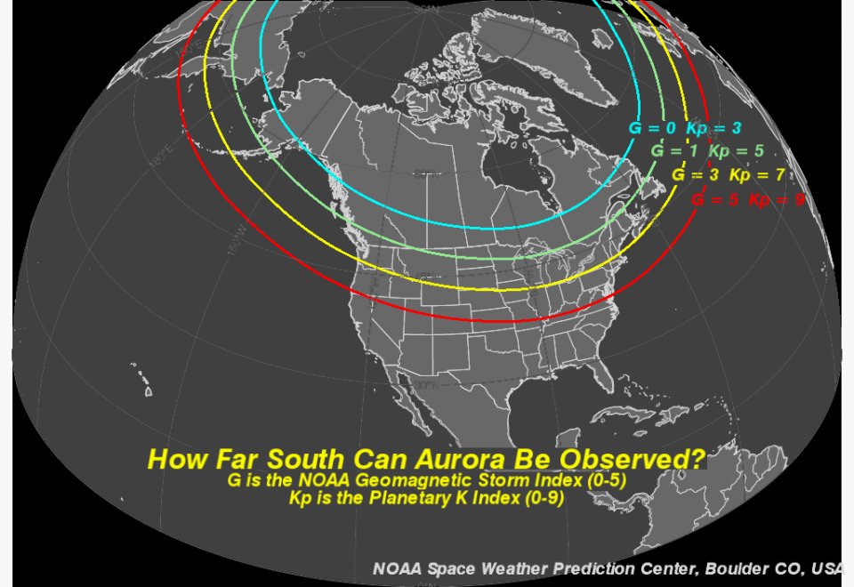 michigan aurora \u2013 michigan dark skies Aurora Borealis Formation in the diagram below, g and kp measure the aurora strength solar storms of kp \u003d 5 7 produce aurorae visible from michigan, such as in image above