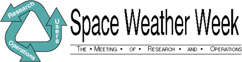 A banner graphic for the 2003 Space Weather Workshop.