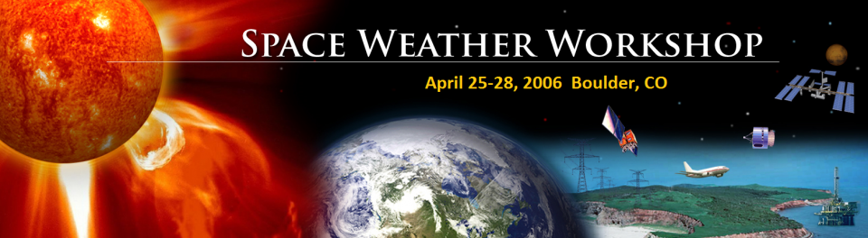 A banner graphic for the 2006 Space Weather Workshop.