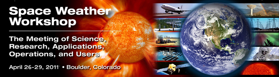 A banner graphic for the 2011 Space Weather Workshop.