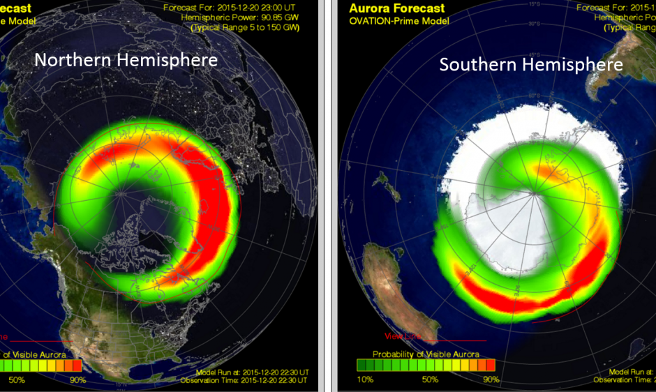 Auroral Oval Forecast Model Display