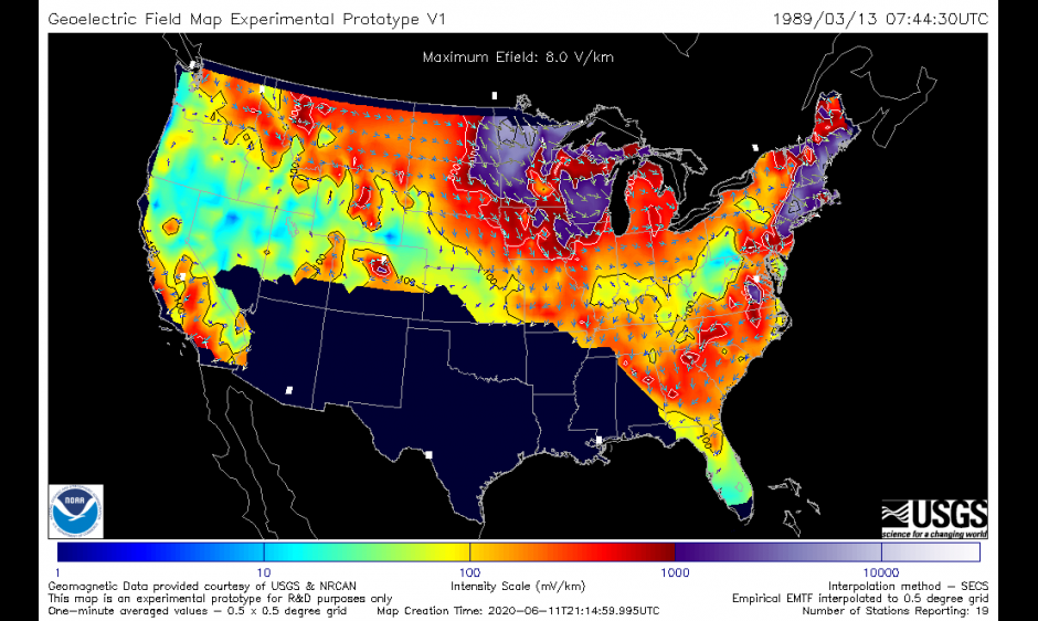 The Space Weather Prediction Center is pleased to announce the operational release of improved geoelectric field maps.