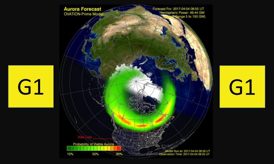 Ovation aurora model/G1 minor Alert