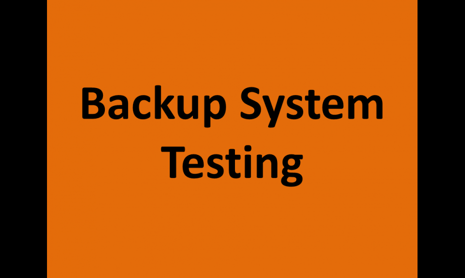 Backup test