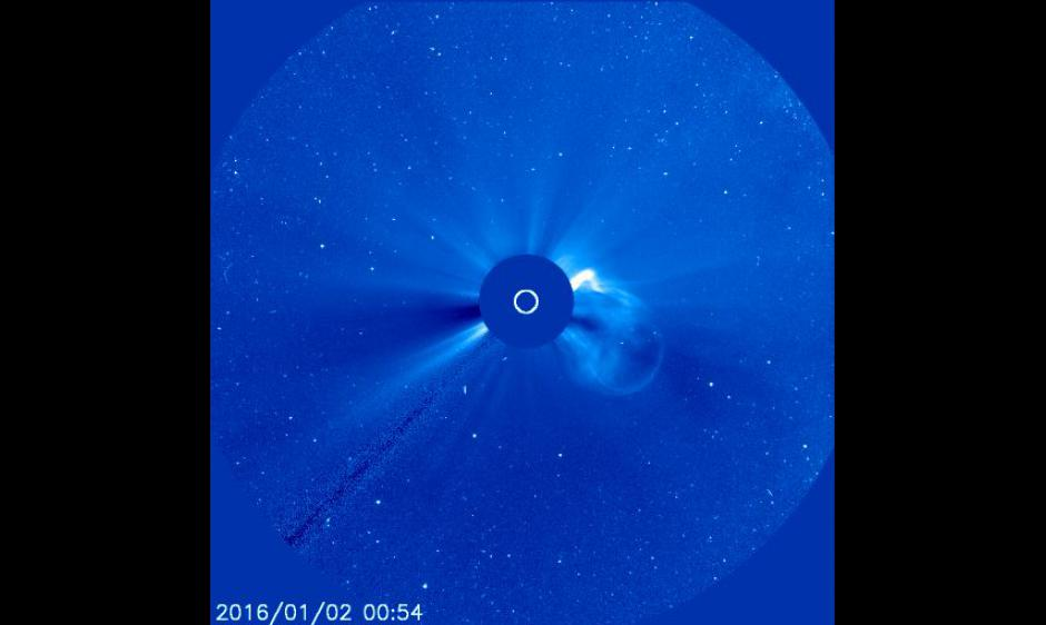 CME from 02 Jan 2016 in SOHO/LASCO C3 imagery