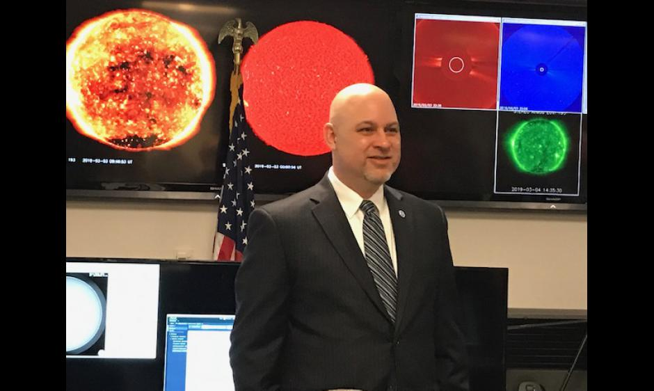 Clinton Wallace is sworn in as new Space Weather Prediction Center Director
