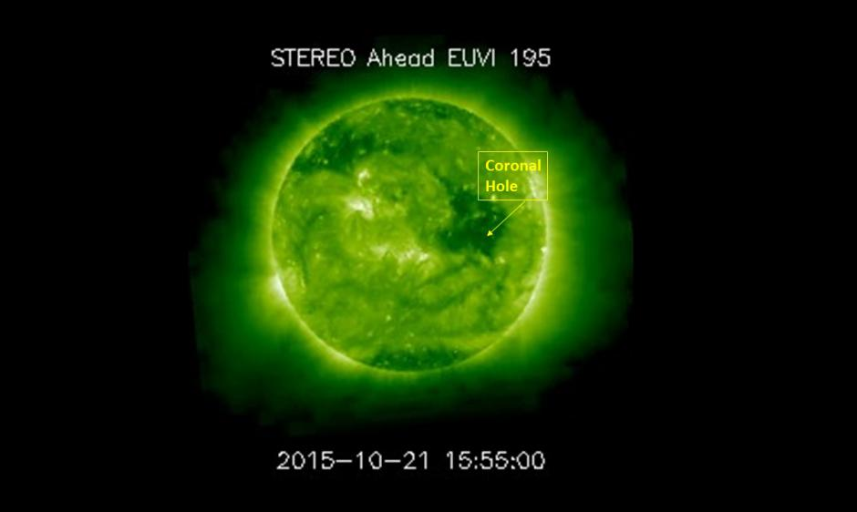 Large coronal hole persists on far side of the Sun