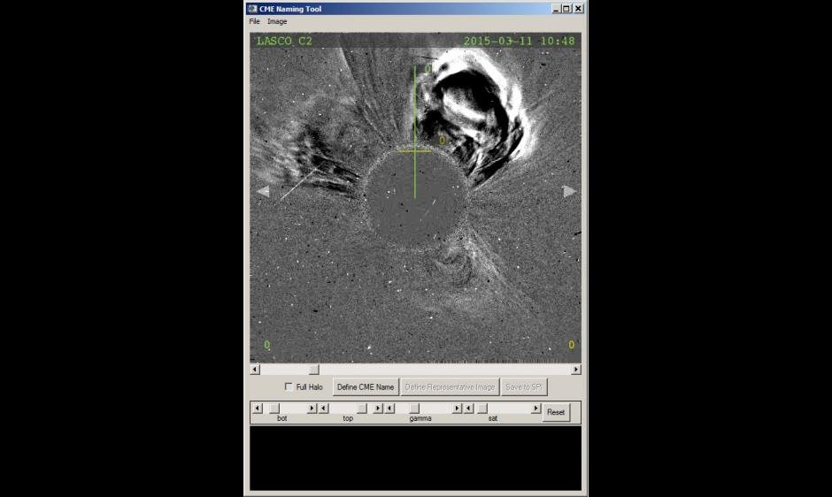 LASCO coronagraph image of filament eruption NNW