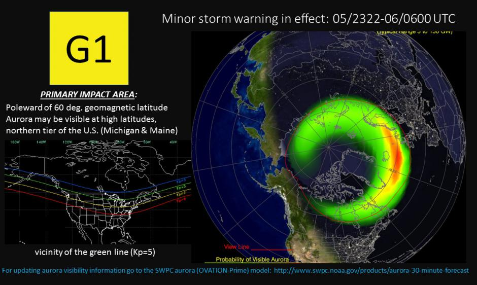 Aurora oval forecast 5 Jan 2017