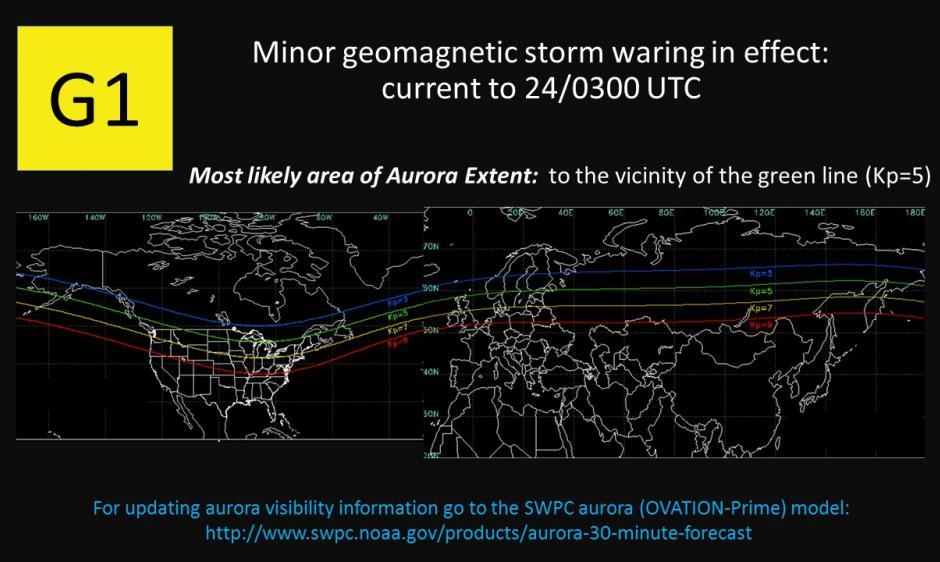 G1 Warning until 24/0300 UTC