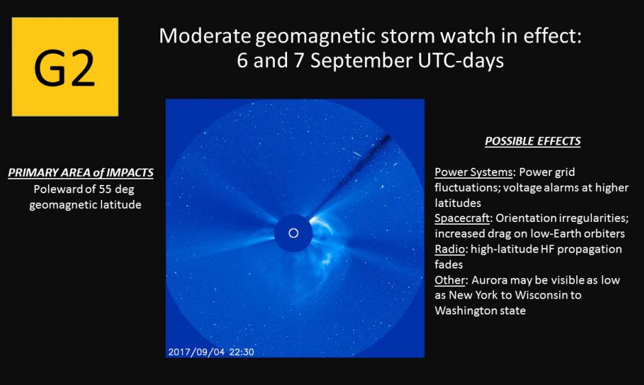 G2 Watch for 6-7 Sep CME Arrival