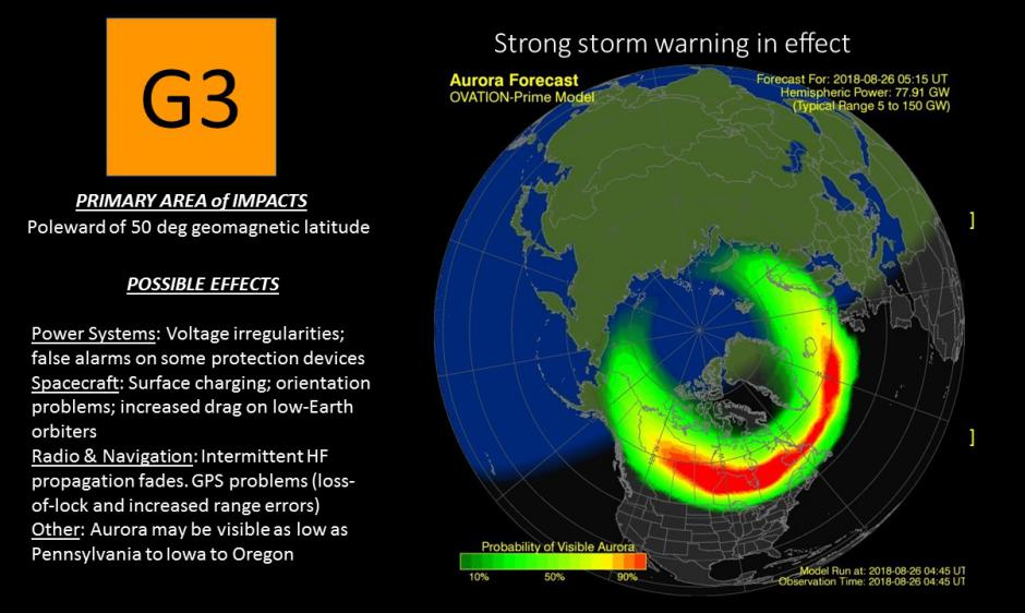 G3 (Strong) Geomagnetic Storm Levels Observed | NOAA / NWS Space