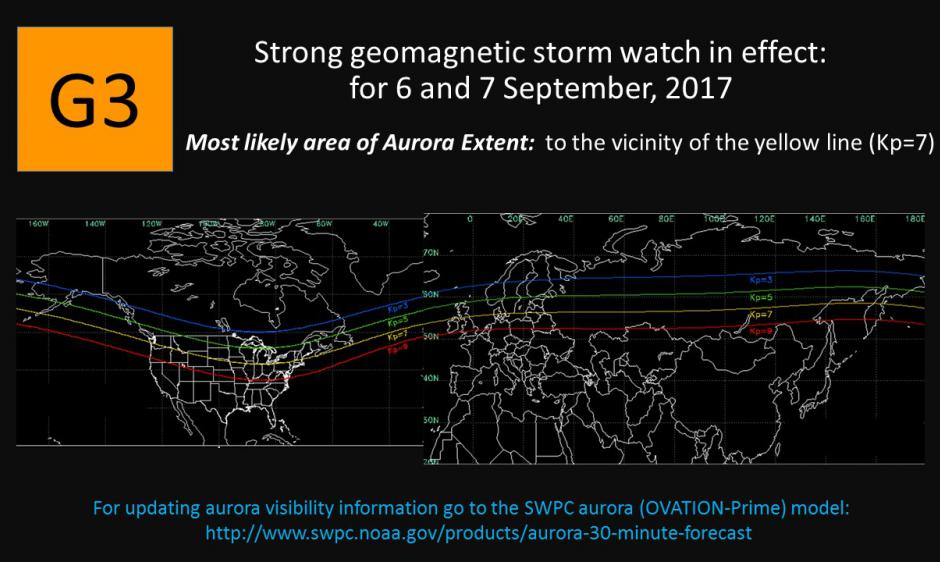 G3 Watch for 6-7 Sep CME Arrival