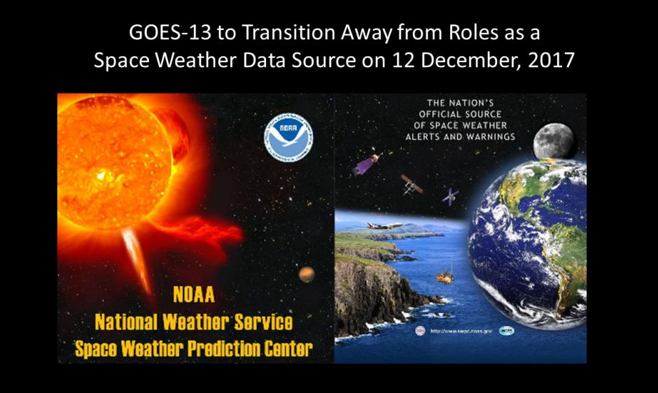 GOES-13 removal as space weather data source