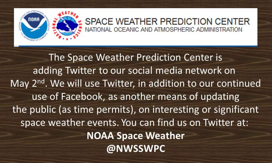 SWPC Twitter Information Announcement