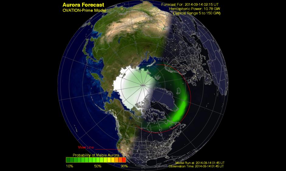 Current Auroral Map