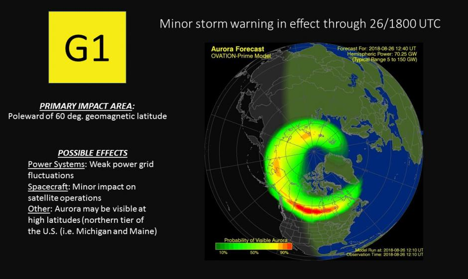 G1 (MINOR) GEOMAGNETIC STORM WARNING IN EFFECT | NOAA / NWS