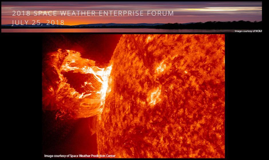 Space Weather Enterprise Forum 2018