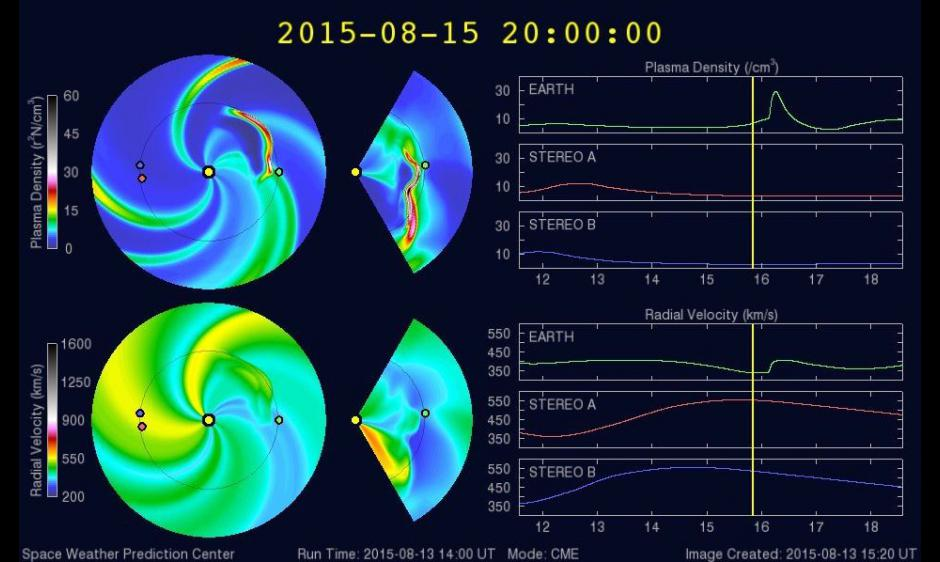 WSAEnlil run of 16 Aug CME