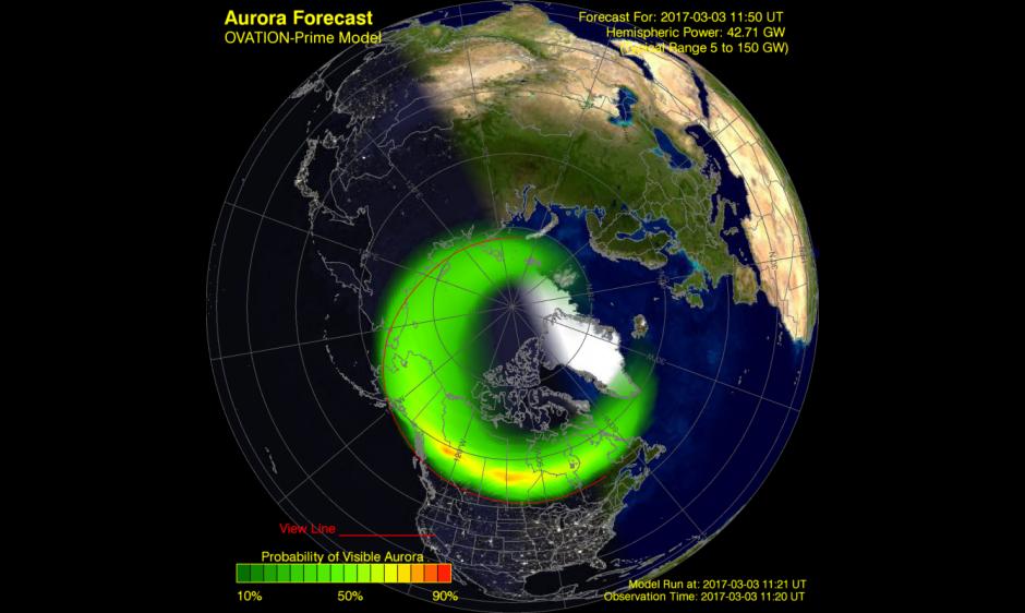 Aurora Forecast Model Output