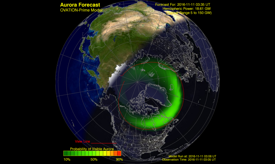 Aurora Forecast Model Output