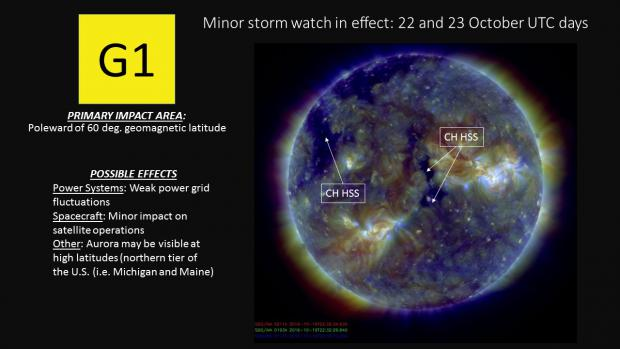 G1 Watch for 22 and 23 October with SDO image