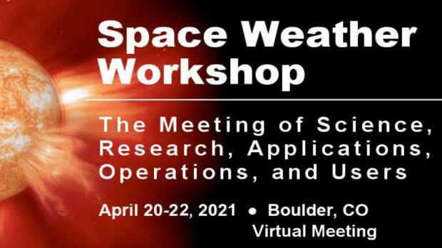 Image advertising the Space Weather Workshop