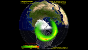 Ovation Auroral oval forecast