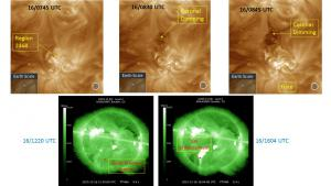 Two CME events on 16 December may be Earth-directed