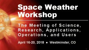 2018 Space Weather Workshop Banner