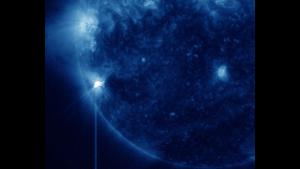 SDO/AIA 335 imagery of the M4 flare from 23 Dec