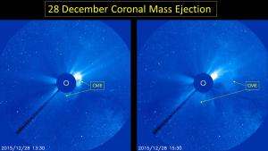 SOHO/LASCO-C3 coronagraph images of 28 Dec CME