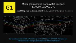 Aurora viewing map