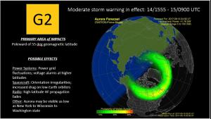 Ovation/G2 Warning until 15/0900 UTC