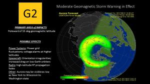 G2 Warning Auroral Forecast