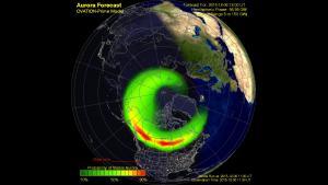 Ovation-Prime Model depiction of aurora oval
