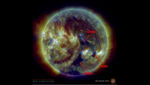 Negative Polarity Coronal Hole High Speed Streams