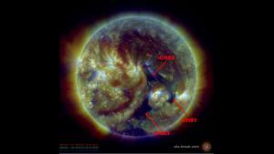 Negative Polarity Coronal Hole High Speed Streams