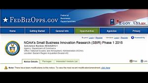 NOAA's 2015 SBIR Solicitation is Now Open