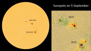 Sunspots on 5 September